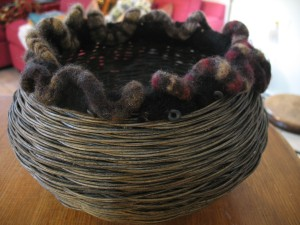 Natural Fiber and Felt Basket